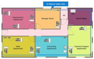 How To Make A Floor Plan On The Computer Network Layout Floor Plans Solution Conceptdraw Com
