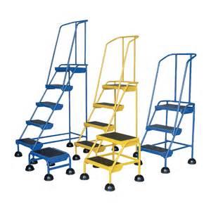 Rolling Stairs by Vestil Commercial Rolling Ladder Spring Loaded 3 Steps