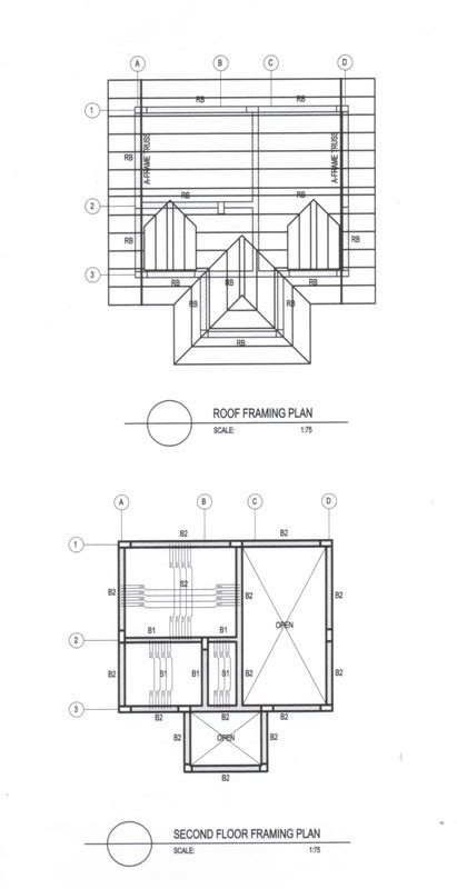 floor framing plan st 02 second floor framing plan roof framing plan
