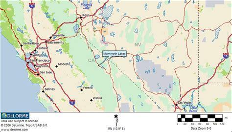 california map mammoth lakes free rv cing mammoth lakes california