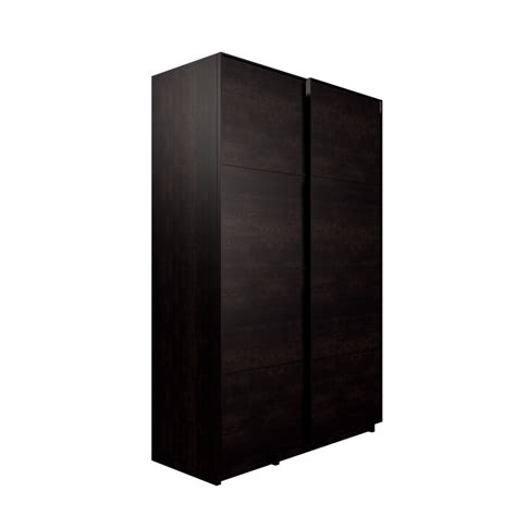 pax wardrobe with sliding doors black brown malm black