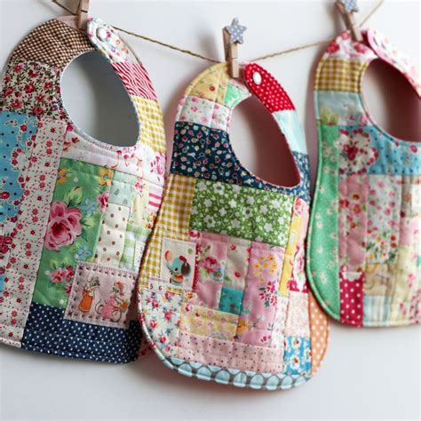 Patchwork Apron Pattern - three scrap happy bibs by nanacompany scrap inspired
