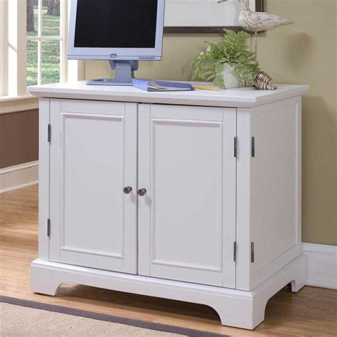 White Desk Armoire by Corner Computer Armoires For Small Space