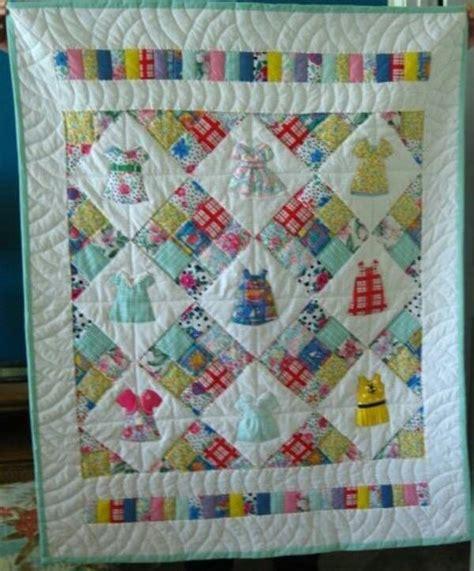quilt pattern little girl quilt made from little girl dresses quilts pinterest