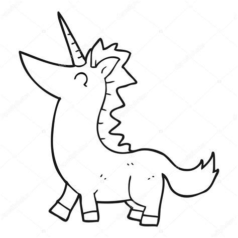 Imagenes De Unicornios Blanco Y Negro | unicornio blanco y negro de dibujos animados vector de