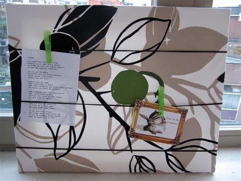 fotowand selber machen stoff memoboard und pinnwand selbermachen einfaches deko diy