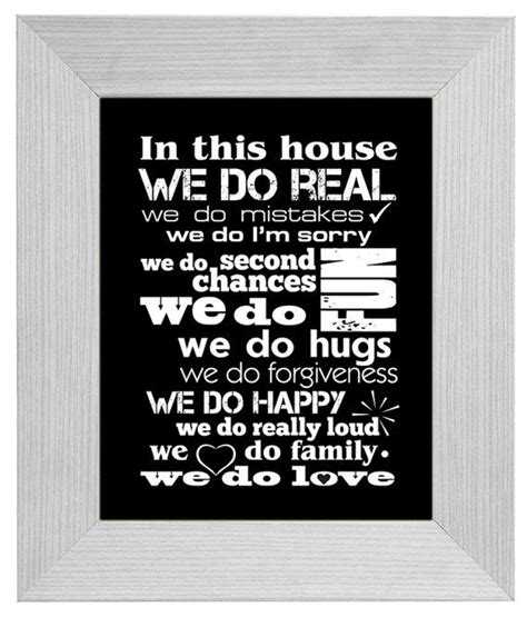 in this house family home poster in our home