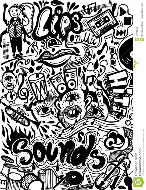 doodlebug song sound doodle royalty free stock photo cartoondealer