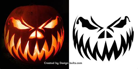 scary o lantern templates free pumpkin carvings stencils designs ideas for