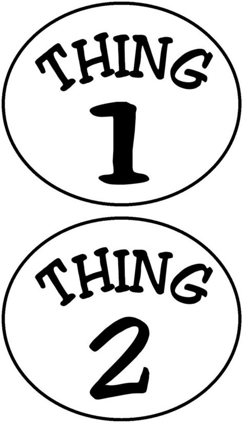 thing 1 thing 2 printables pinterest circles