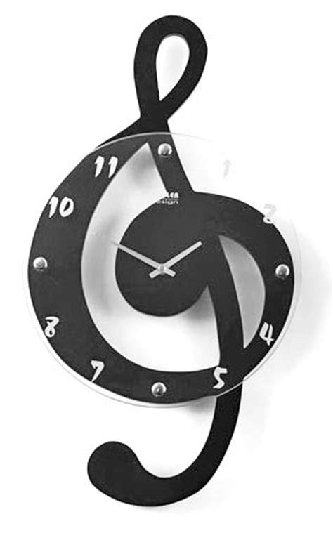 cool clock face designs musical clef clock