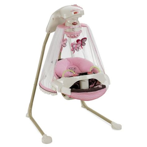 fisher price butterfly cradle swing fisher price butterfly baby cradle swing mocha ebay