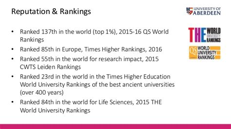Of Aberdeen Mba Ranking by Graduate Study At The Of Aberdeen An