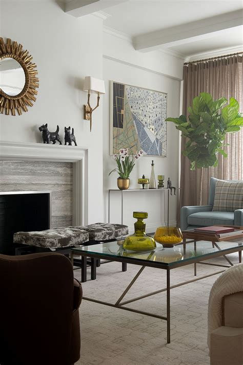 contemporary  york apartment  chic midcentury vibe