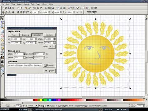tutorial gimp inkscape penguin pete s blog inkscape tutorial the sun