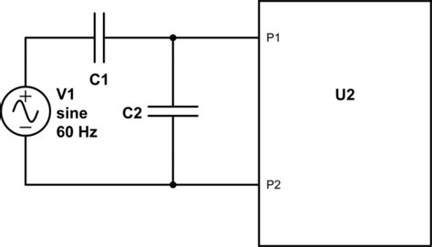 capacitor series voltage divider capacitor can i use a capacitive divider to run an ac dc converter from a higher voltage than