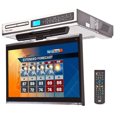 kitchen tv radio under cabinet venturer klv3915 under cabinet 15 4 inch drop down kitchen