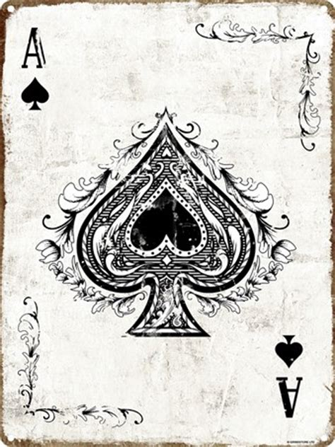 ace of spades play your cards right tin sign buy online