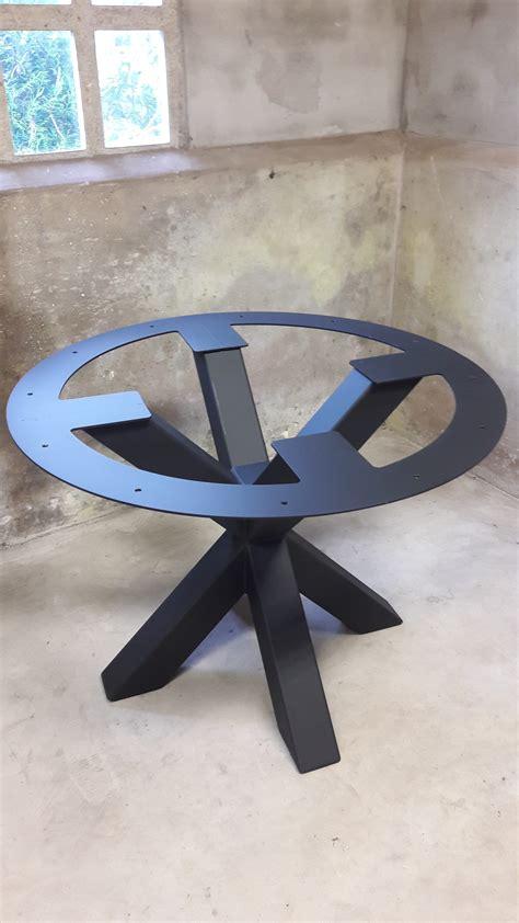 ronde salontafel met ijzeren onderstel onderstel ronde tafel wimetaal nl
