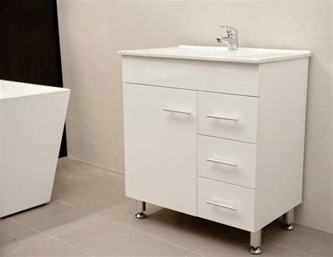 Bathroom Vanities With Legs Artemis Wpl750r 750mm Polyurethane Bathroom Vanity Unit With Ceramic Basin On Metal Legs