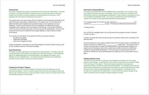 rca template word worksheet root cause analysis worksheet mifirental free