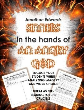 Sinners In The Of An Angry God Worksheet