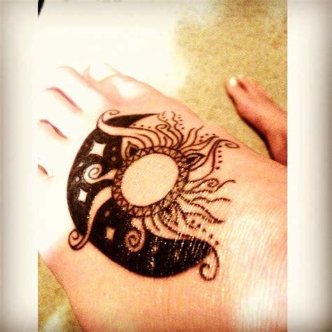 sun and moon foot tattoo my new foot sun moon tattoos