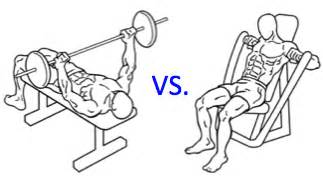 bench press machine vs free weight free weights vs machines supplement reviews blog
