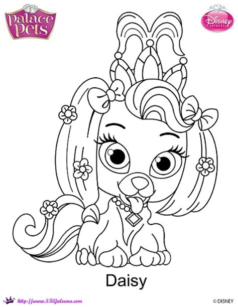 Disney Princess Palace Pets Daisy Coloring Page By Disney Princess Pets Coloring Pages Free Coloring Sheets