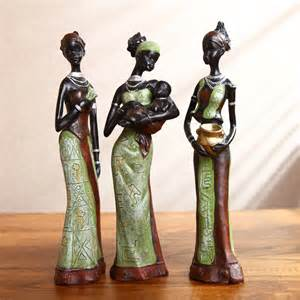 statue for home decoration home decoration resin figurine statue craft ornament gift african women statue decorative