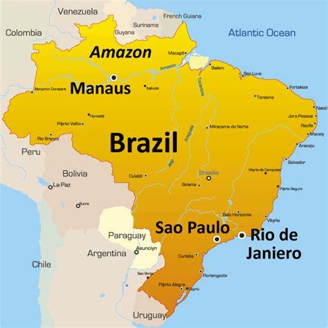 map of brasil brazil favelas lic study geography gcse