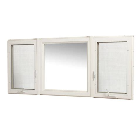 home depot awning windows tafco windows 83 in x 36 in vinyl casement window with screen white vcc8336rl