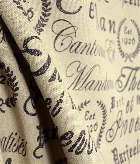 script upholstery fabric tea house black script upholstery fabric real linen ebay
