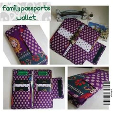 passport holder pattern sewing organizer tutorial organizer travel purse handmade