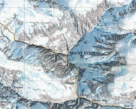 mt everest map maps mount everest maps