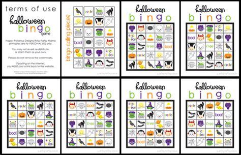 printable halloween bingo cards with pictures bingo cards 1 20 images