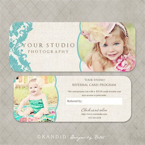 free photography referral card templates 17 best images about d1 inspiration board on
