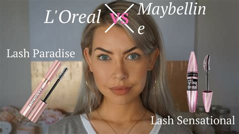 sensational videos l oreal lash paradise vs maybelline lash sensational youtube