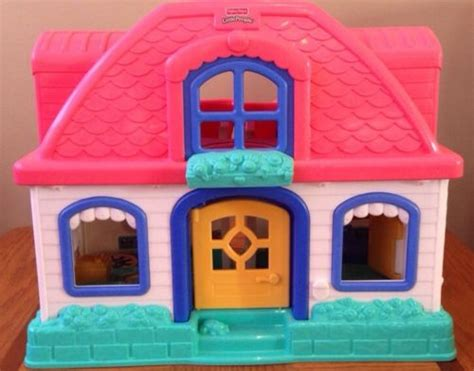 little people house fisher price little people sweet sounds doll house pink white expandable what s it worth