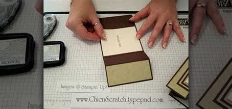 How To Make A Card Out Of Paper - how to make a tri fold card out of paper 171 papercraft