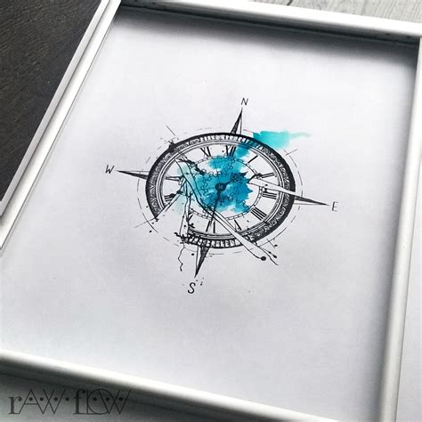 broken compass tattoo itsrawflow photo signature