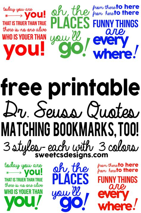 New Bedroom Paint Colors - free printable dr seuss bookmarks