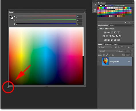 improved  enhanced color panel photoshop cc
