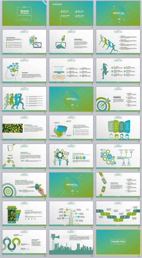 design powerpoint corporate 27 brand design business professional powerpoint templates