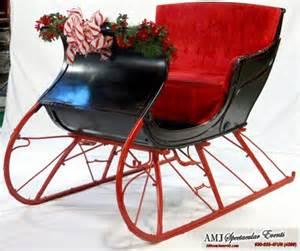 Santa s cozy sleigh red santa s sleigh indoor holiday santa prop for