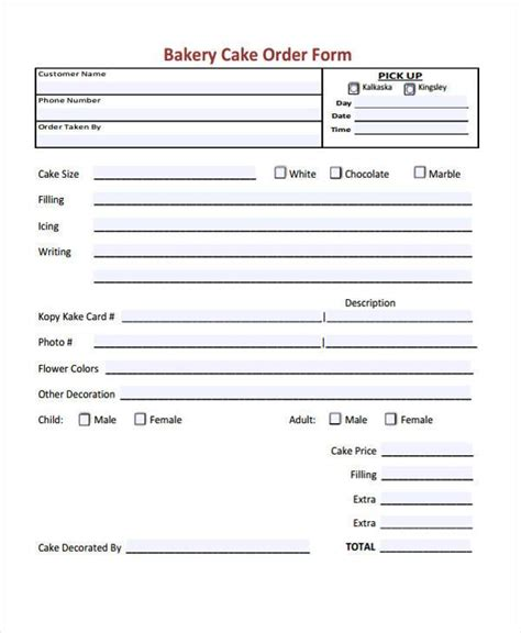 simple printable order forms sle cake order form template goods purchase order