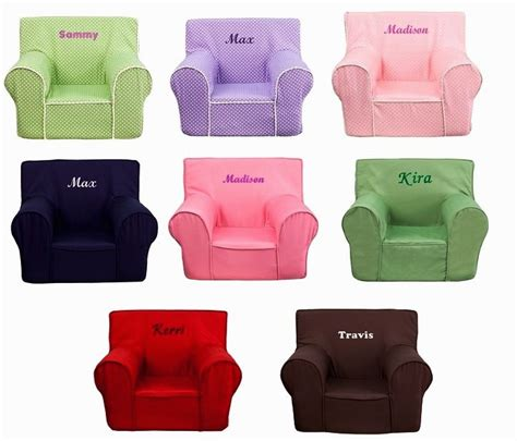 Toddler Personalized Chair by Personalized Foam Arm Chairs