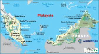 World Map Malaysia by Malaysia Large Color Map