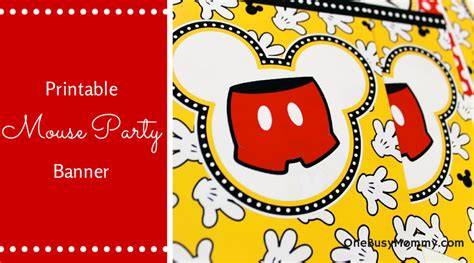 printable disney banner free printable mickey mouse banner onebusymommy com