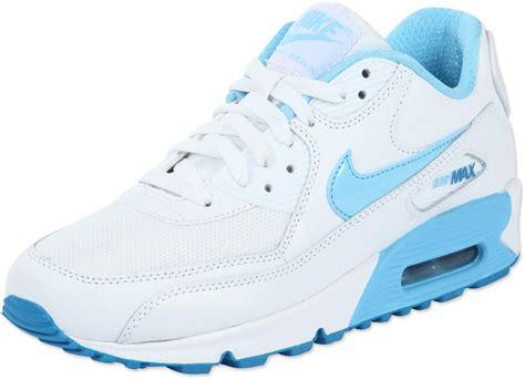 Nike Air Max Blue White by Nike Air Max 90 Youth Gs Shoes White Blue